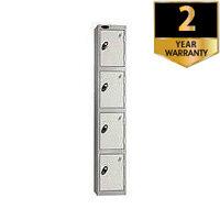 Lion Steel 4 Door Locker 305 x 305mm Silver Grey 701212/4
