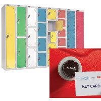 Lockers With Keyless Card Operated Lock