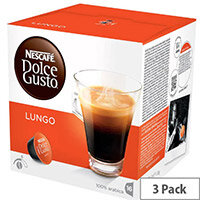 Nescafe Caffe Lungo for Dolce Gusto Machine Capsules - Makes 48 Cups of Coffee, Ideal for reception areas and meeting rooms, 100% Arabica Beans