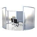 MARATHON Meeting Pod Frosted Acrylic H1600mm