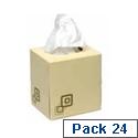 Facial Tissues Cream Cube 70 Sheet Box Pack of 24