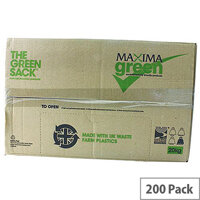 The Green Sack Black Extra Heavy Duty Refuse Sack 80 Litre Pack of 200 VHPMAXHD
