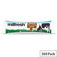 Milfresh Superior Granulated 100% Skimmed Milk Coffee Whitener (390 Sticks) Pack 1
