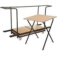 40 Exam Desk & Trolley Bundle - Exam Desk Trolley For 40 Desks Supplied Complete with Desks Ref MFED60B40