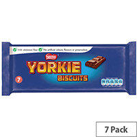 Nestle Yorkie Chocolate Biscuit Bars Individually Wrapped (Pack 7) 12130127