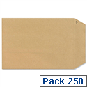 New Guardian C5 Manilla Envelopes Peel and Seal Pocket Pack 250