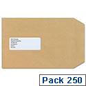 New Guardian C5 Window Envelopes Pocket Press Seal Manilla Pack 250