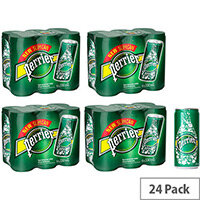 Perrier Pure Natural Mineral Sarkling Water 330ml Cans Pack of 24 11648958