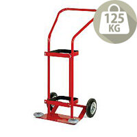 Oxygen Cylinder Red Trolley 3400 Litre With Rubber Wheels 320667