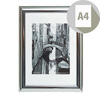 Photo Album Company Certificate Frame A4 Silver Chrome PILA4SHIN-NG