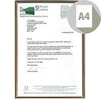 Photo Album Company Certificate Frame Metal A4 Black/Gold PACFA4B