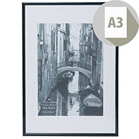 Elegant Wall Mounting A3 Aluminium Non-Glass Frame Black Ideal For Photographs, Documents & Certificates - Perfect For Professional Displays
