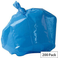 2Work Polymax Refuse Sacks 100L Colour Coded  Blue Pack 200 0860