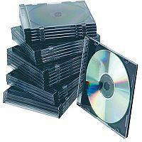 Q-Connect CD Jewel Case Slim Black Pack of 25 KF02210