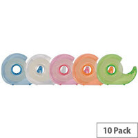 Q-Connect Hand Held Tape Dispenser c/w One Roll Tape 19mm x33 Metres Pack 10 KF27009