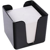 Q-Connect Note Holder Memo/Jot Box Black