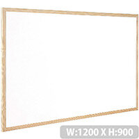 Whiteboard Wooden Frame 1200x900mm Q-Connect KF03572