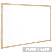 Whiteboard Wooden Frame 900x600mm Q-Connect KF03571