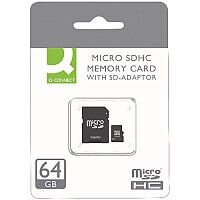 Q-Connect Micro SDHC Card 64GB Class 10 With SD Adaptor