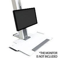 Humanscale QuickStand Height-Adjustable Sitting/Standing Workstation Large Platform White QSWL30