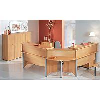 Wooden L-Shaped Reception Desk Beech Finish RD19