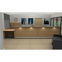 Long Straight Wooden Reception Desk RD60