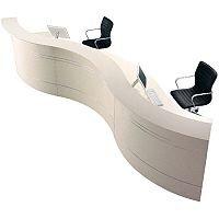 Large Curved Reception Desk Light Wood Finish RD84