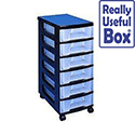 Really Useful Mobile Storgae Tower 6x7 Literature Drawers Black ST6X7C