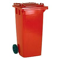 Wheelie Bin 140 Litre 2-Wheel Red