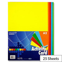 Premier A2 160g Activity Card Rainbow Assorted Colours  (Pack of 25 sheets)