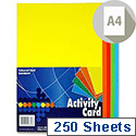 Premier A4 160g Activity Card Sheets Assorted Rainbow (Pack of 1250 Sheets)
