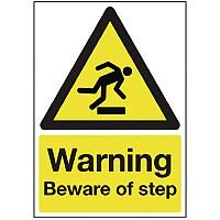 Safety Sign Warning Beware Of Step A5 PVC
