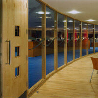 SAS SYSTEM 5000 Single Glazed Hardwood Office Partitioning System