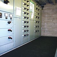 Electrical safety matting for single-phase and 3-phase switchgear. - 9.5mm thick, 900mm wide, cut length 357756
