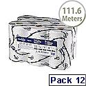 Tork White SmartOne Mini 2 Ply Dispenser Toilet Roll 111.6 Metres Pack of 12 472193