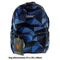 School Bag Pack 25 Litre Backpack Iceland Blue Plaid Explore Xtreme