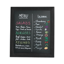 Securit 400x500mm Wall-Mounted Chalk Board Black VERWBU-BL-40