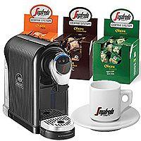 Segafredo Zanetti Coffee System ESPRESSO 1 PLUS Coffee Machine, 150 Espresso Capsules - Bundle Offer