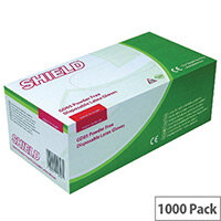 Disposable Powder Free Latex Gloves Clear Large Pack 10x100 Shield Gd05