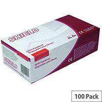 Disposable Powdered Latex Gloves Natural Medium Box of 100 Shield GD45
