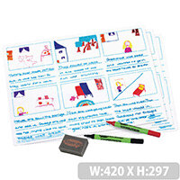 Show-Me A3 Tell-A-Story Board Sets 5 Pack