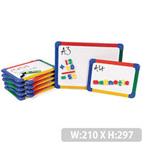 A4 Rainbow Framed Magnetic Whiteboard 10 Pack Show-Me
