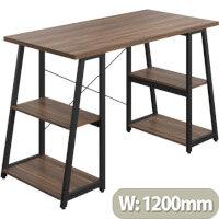 Soho Odell Home Office Desk W1200mm Walnut Desktop & Black Metal Frame