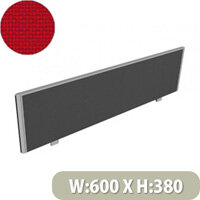 Sprint Office Desk Screen Straight Top W600xH380mm Red
