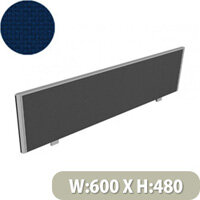 Sprint Office Desk Screen Straight Top W600xH480mm Dark Blue