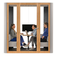 Space L Meeting Booth Up to 4 Persons Acoustic Meeting / Conference Booth