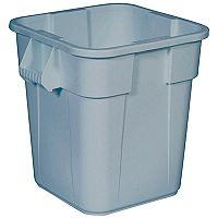 Square Brute Bin Container 106 Litre Base Without Lid Grey - Square containers for general use - With 14% more capacity than comparable round containers - Food safe - ideal for caterers