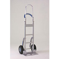 Stairclimbing Hand Truck Tall Frame Low-Friction Skids Aluminium 317675