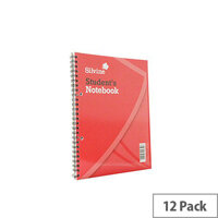 Silvine Spiral Bound Book 9x7 Inches 60 Leaf Ruled Feint Pack of 12