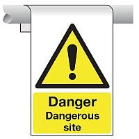 Sign Danger Dangerous Site 450X600 Aluminium